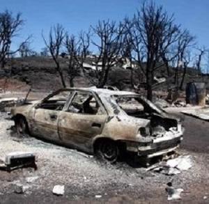 coche incendiado